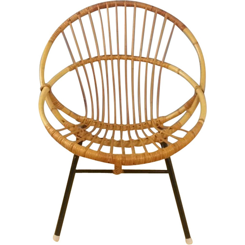 Rattan chair produced by Rohe Noordwolde - 1960s