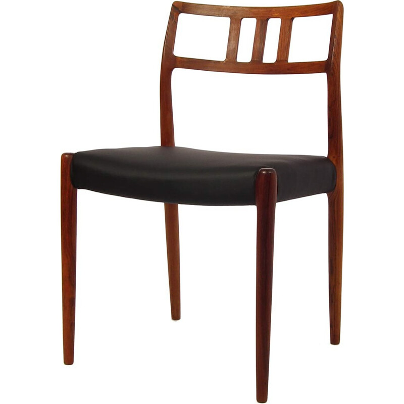 """Set of 4 model """"79"""" chairs by Niels O. Møller - 1960s"""
