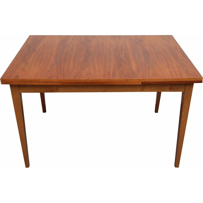 Extendable dining walnut table - 1960s