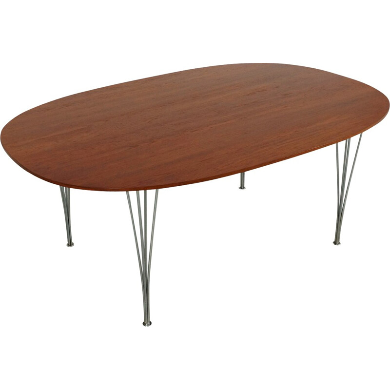 """""""Super-elliptical"""" dining table by Piet Hein and Bruno Mathsson for Fritz Hansen - 1970s"""