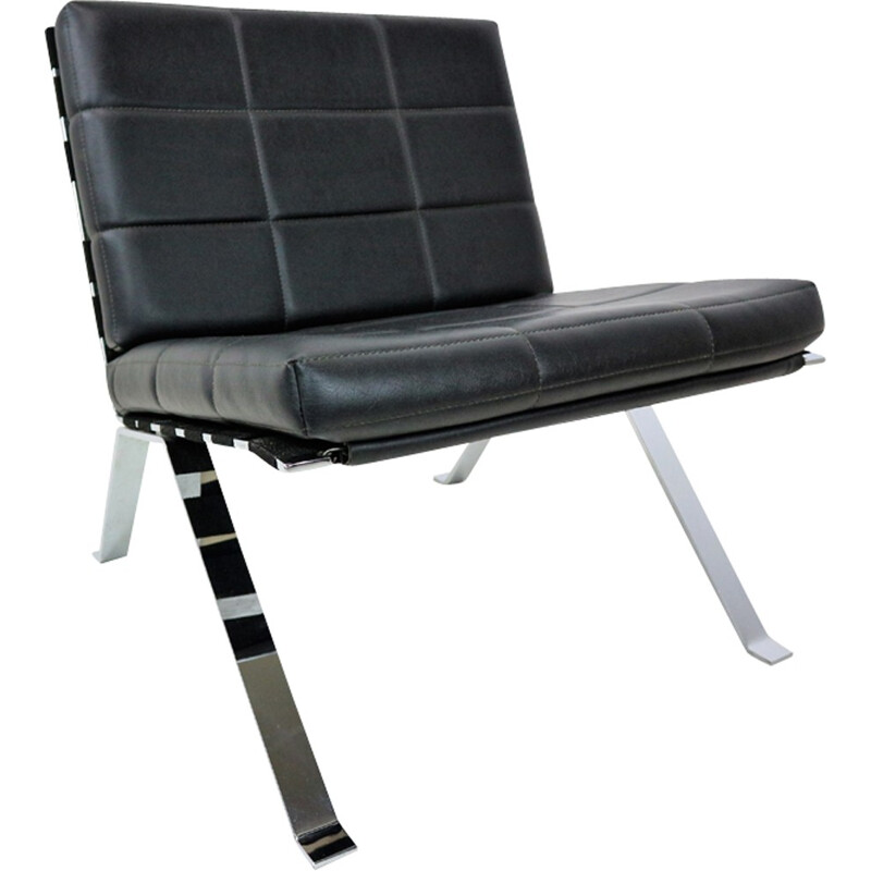 """""""Eurochair"""" leather lounge chair by Hans Eichenberger for Girsberger - 1960s"""