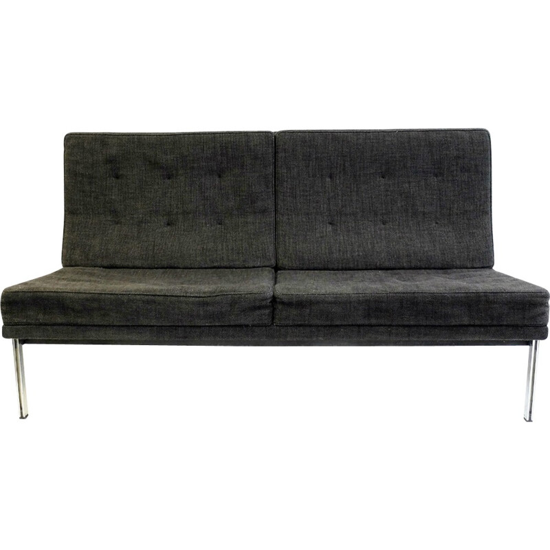 """""""Parallel bar"""" gray sofa by Flotrence Knoll - 1960s"""