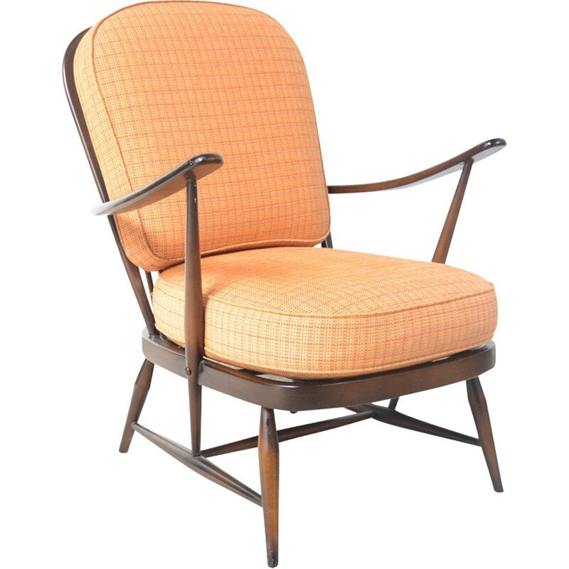 Mid-century armchair in elmwood by Lucian Ercolani - 1960s