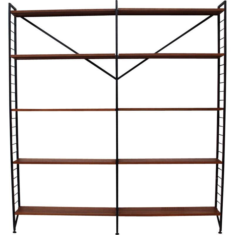 """Mid-century """"Ladderax"""" shelving system by Robert Heal for Staples - 1960s"""