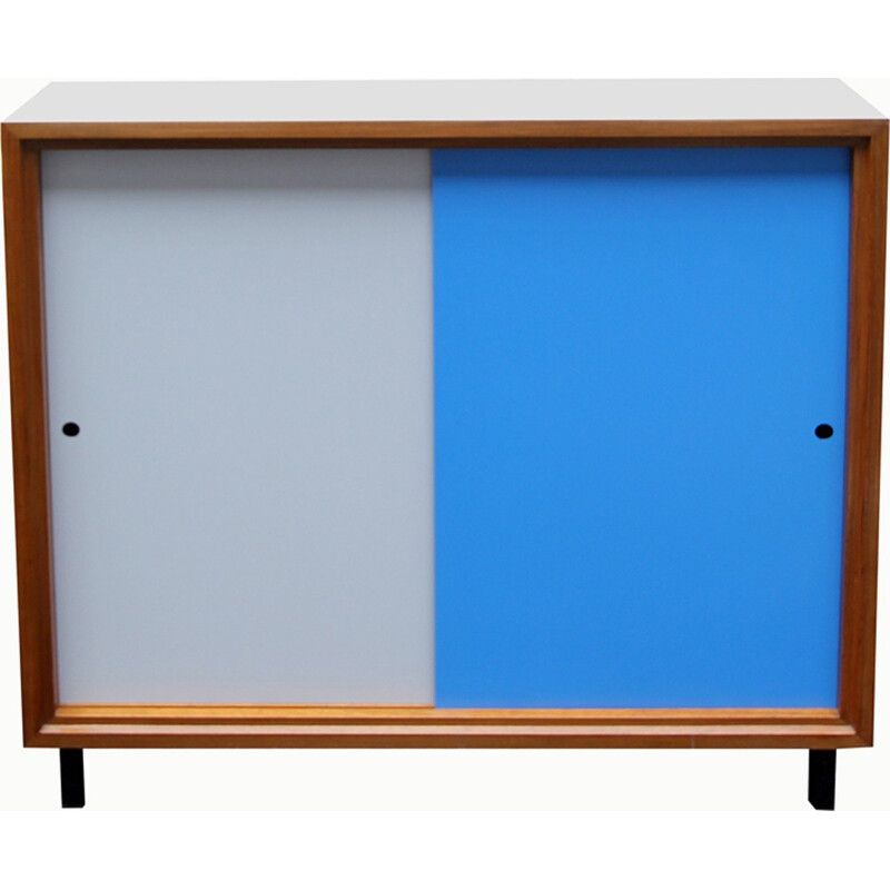 Formica light grey and blue sideboard - 1960s