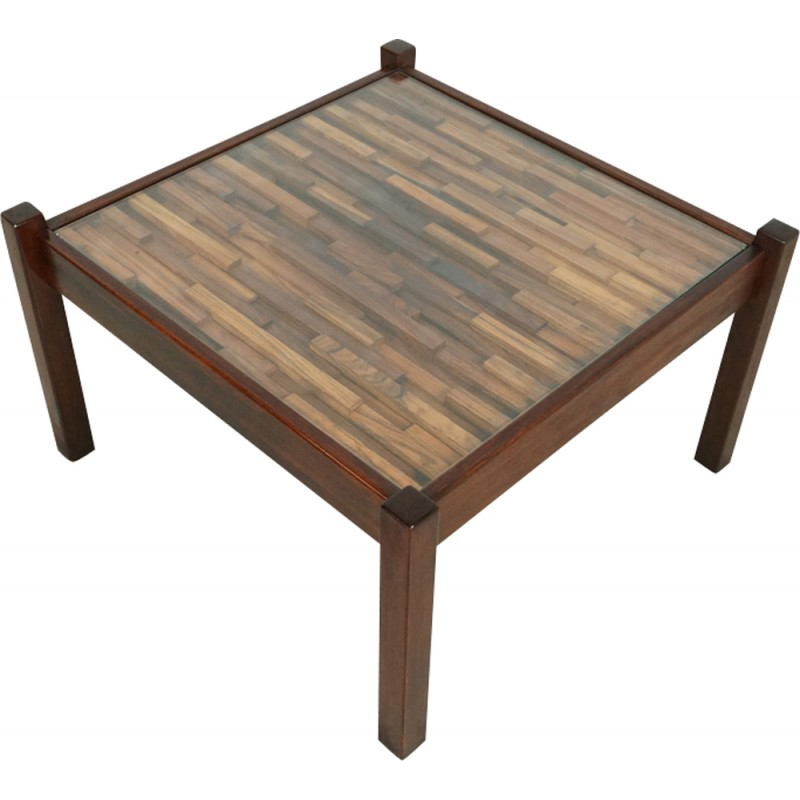 Mid-century wood coffee table by Percival Lafer - 1960s