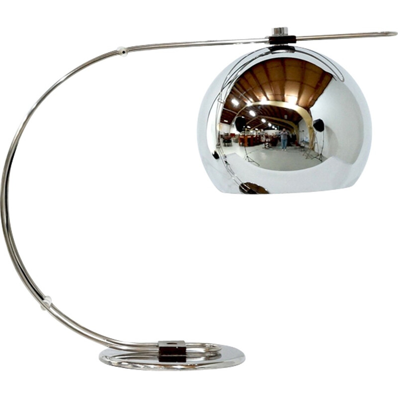 Mid-century chromed desk lamp - 1970s