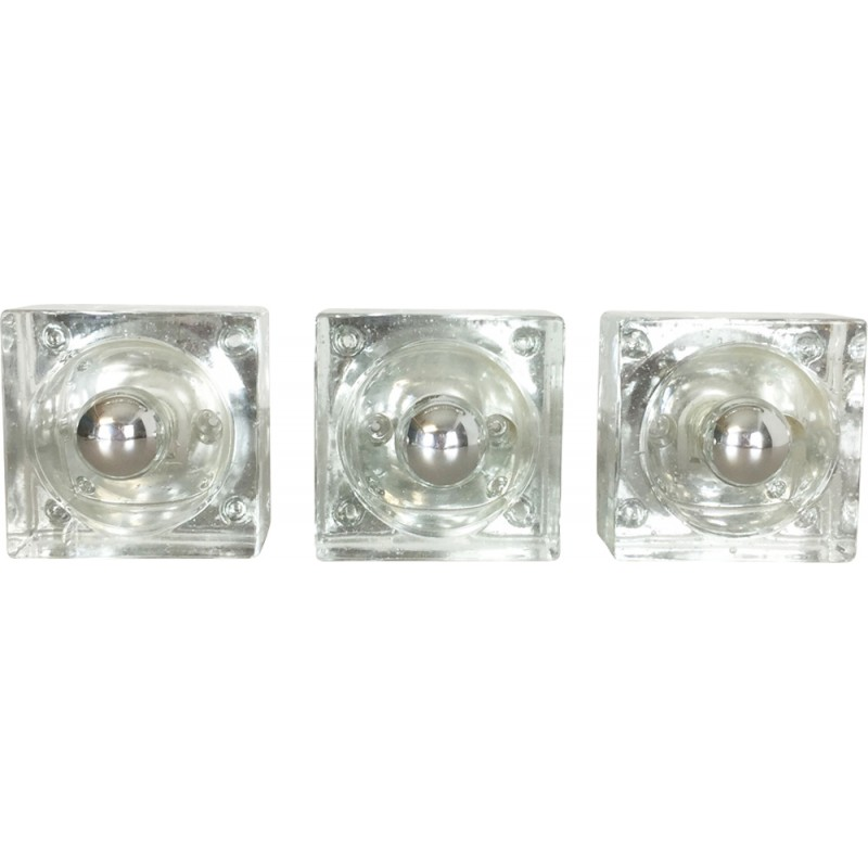 Set of 3 ice cube wall lamp for wila lights 1970s design market set of 3 ice cube wall lamp for wila lights 1970s mozeypictures Images