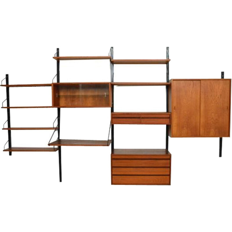 "Wall storage unit ""Royal system"" by Poul Cadovius - 1950s"
