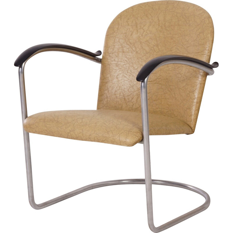 Vintage 414 tubular armchair by W.H. Gispen for Gispen - 1960s