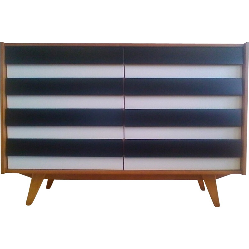 Retro black and white chest of drawers by Jiroutek - 1960s