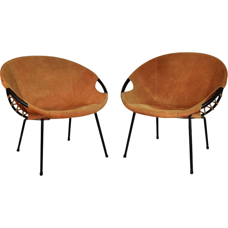Pair of circle armchairs by Lusch Erzeugnis for Lush & Co - 1960s