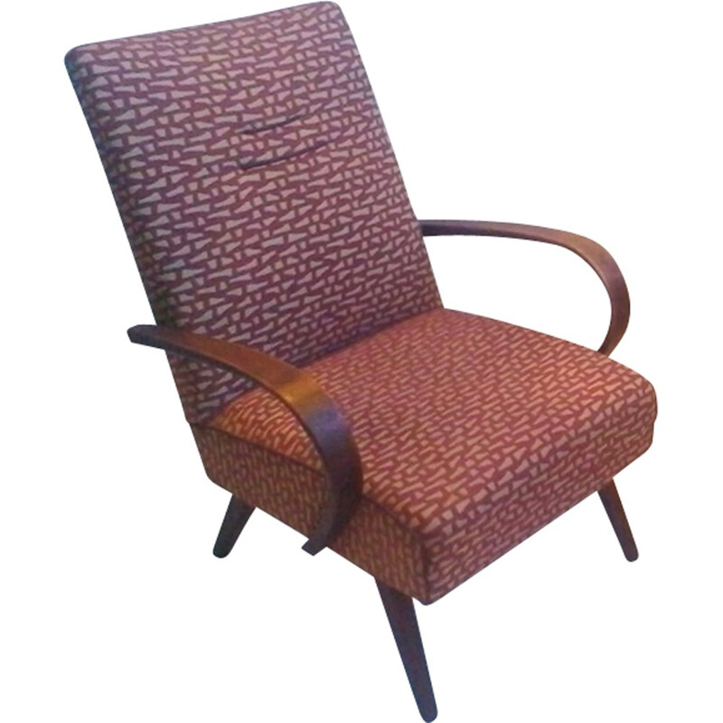 Pair of bentwood lounge chair by Thon - 1960s