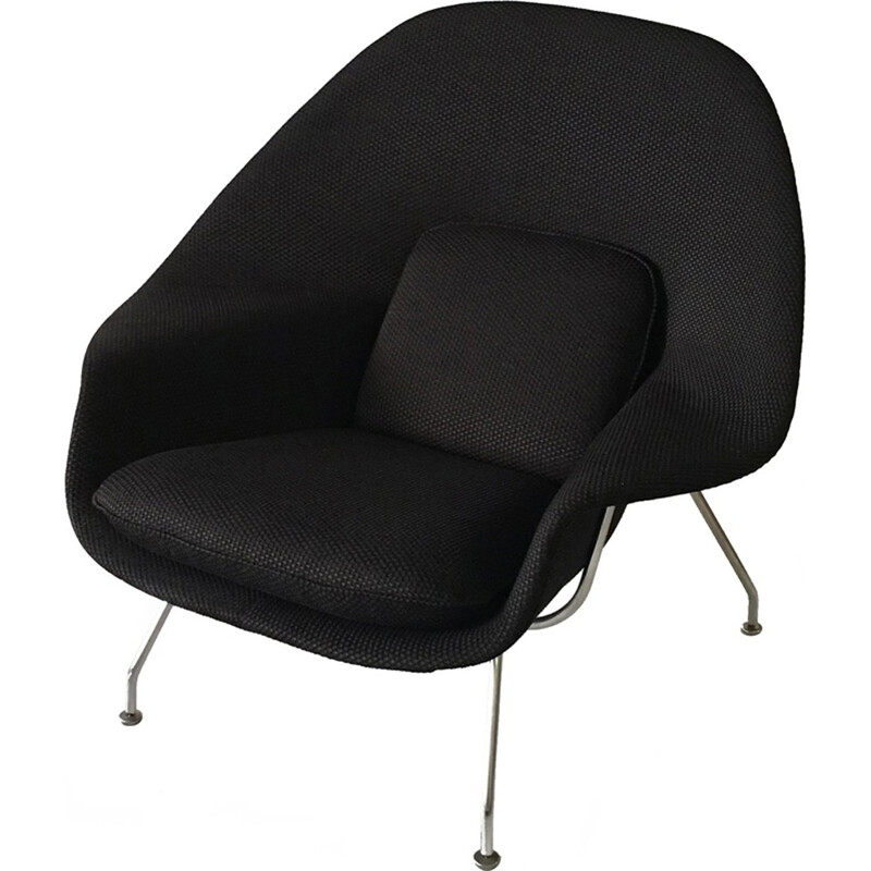Black Womb chair with ottoman Eero Saarinen for Knoll International - 1940