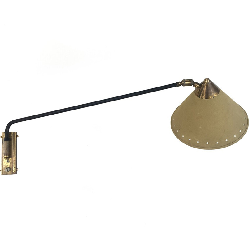 "Vintage ""Diablo"" wall lamp by Rene Mathieu for Lunel - 1950s"