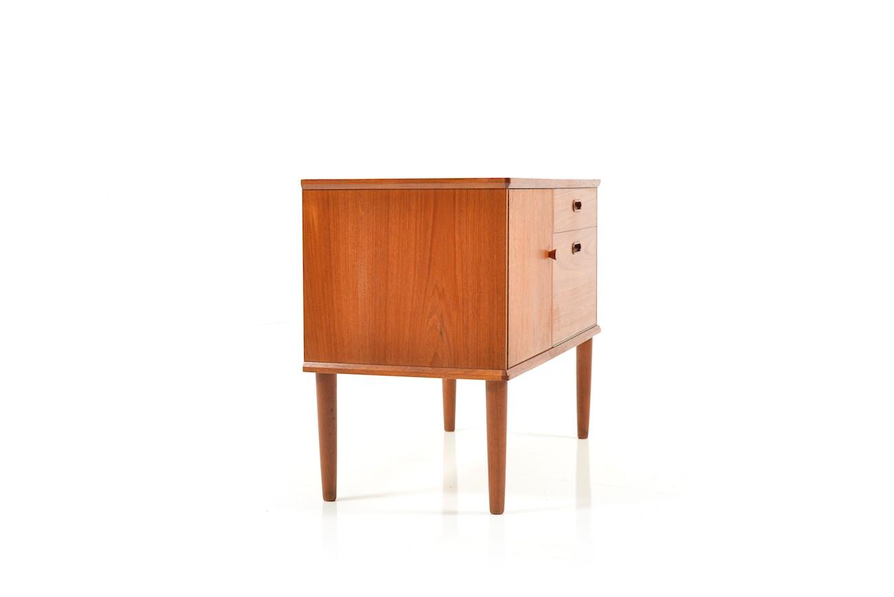 Small Danish Credenza : Vintage small danish teak sideboard s design market