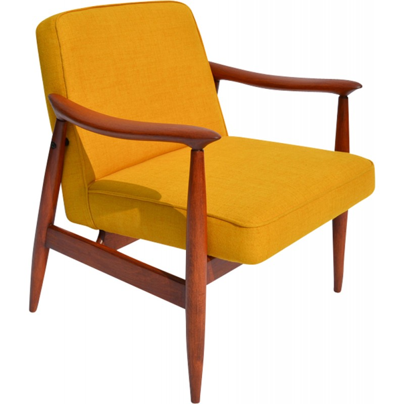 Vintage Warsaw Yellow Armchair 1960