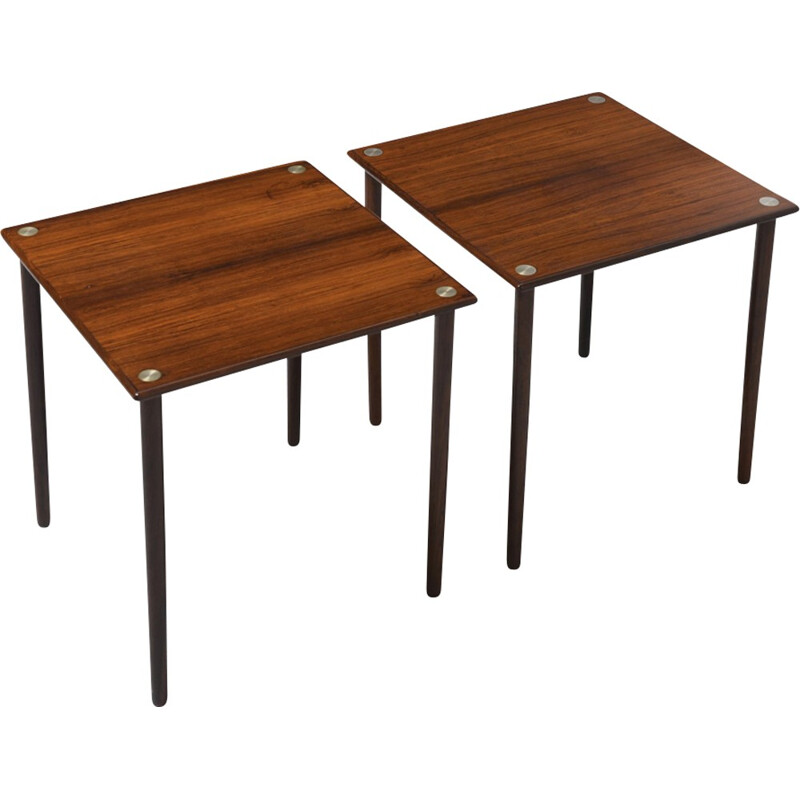Pair of rosewood side tables by Georg Petersens for GP Farum - 1960s