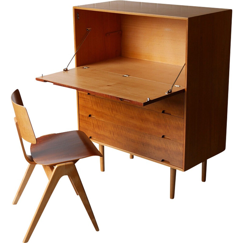 """Robin Day unit """"J"""" and Hillestak chair - 1950s"""