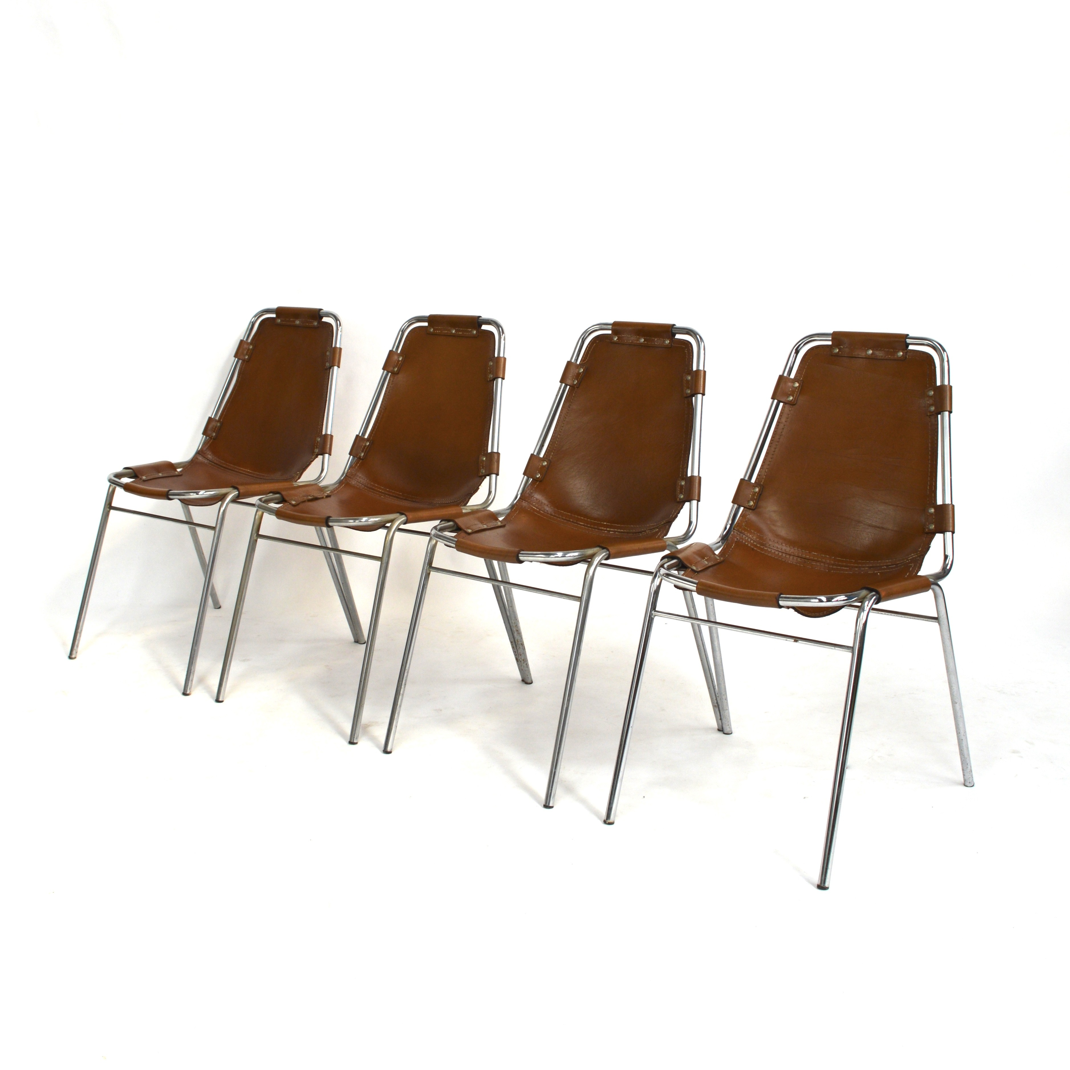 Set Of 4 Quot Les Arcs Quot Chairs By Charlotte Perriand 1970s