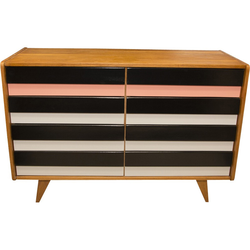 Mid-century U-453 chest of drawers by Jiří Jiroutek for Interier Praha - 1960s