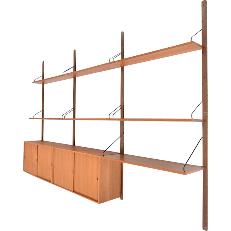 """Royal"" modular storage unit in teak by Poul Cadovius for Cado - 1960s"