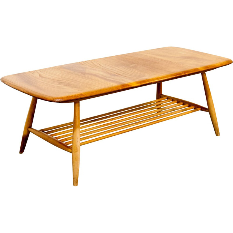Vintage coffee table in wood by Lucian Ercolani - 1960s