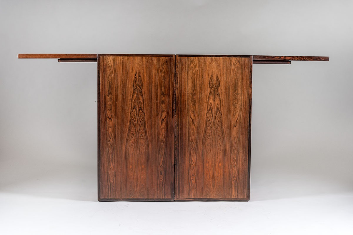 Lige ud Danish Bar Cabinet by Reno Wahl Iversen for Dyrlund - 1960s PR82
