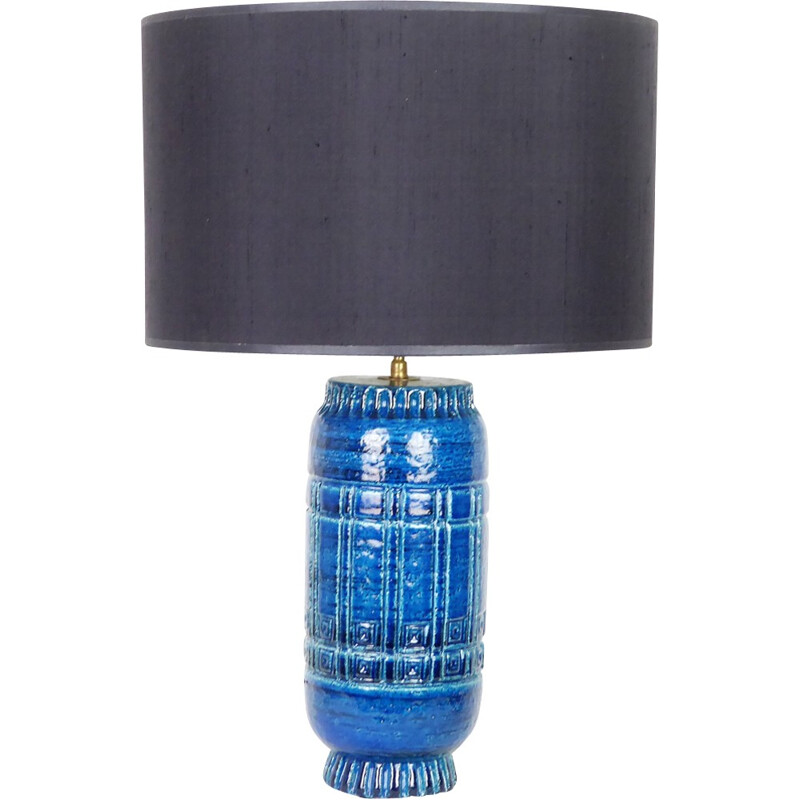 Pol Chambost Lamp, 1307 model, in blue ceramic, 1950
