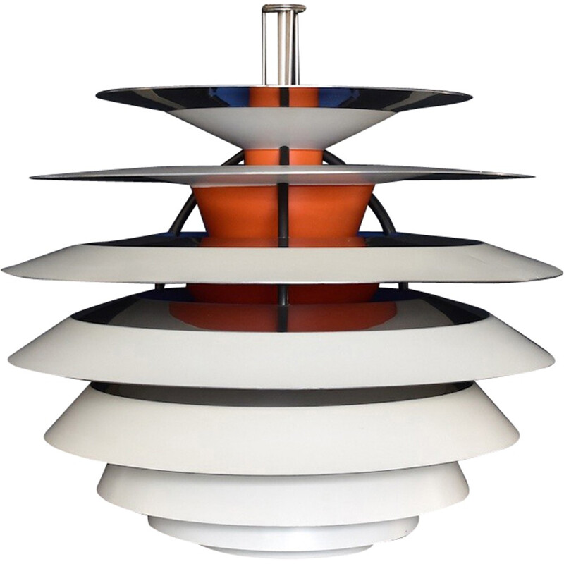 "White ""PH Contrast"" hanging lamp by Poul Henningsen for Louis Poulsen - 1950s"