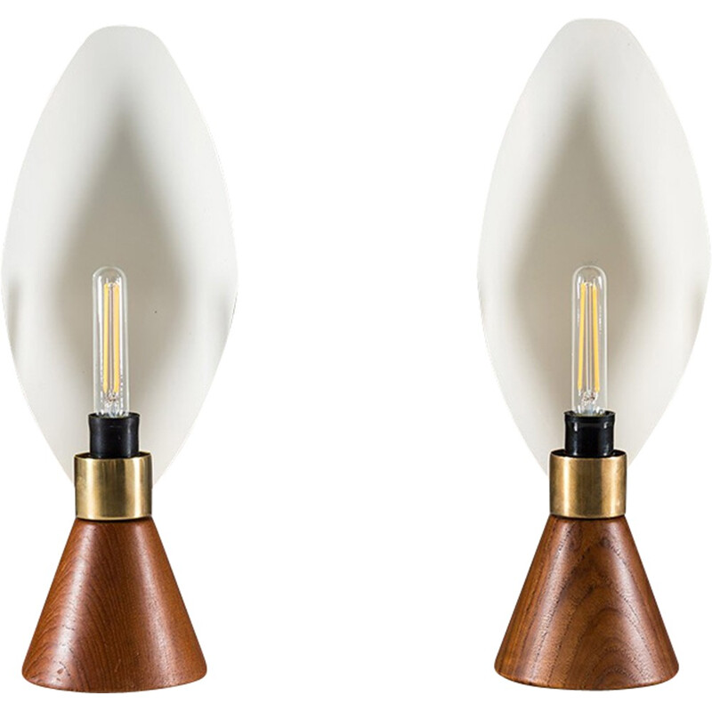 Mid-Century Modern pair of Table Lamps by Svend Aage Holm-Sørensen for ASEA - 1950s