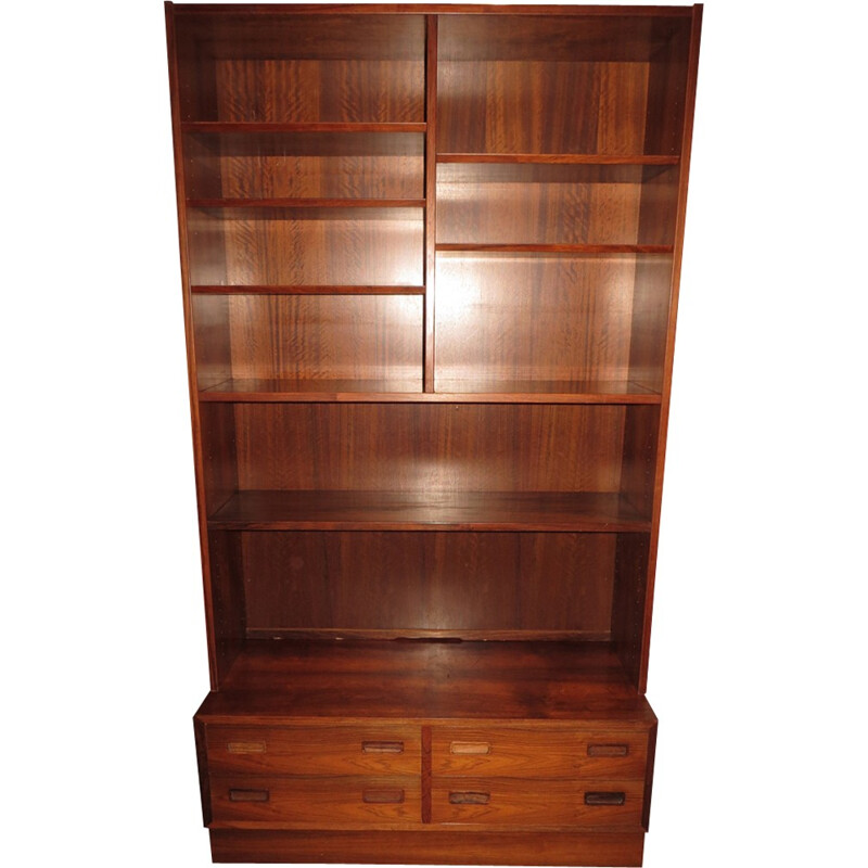 Rio Rosewood bookcase by Poul Hundevad - 1960s