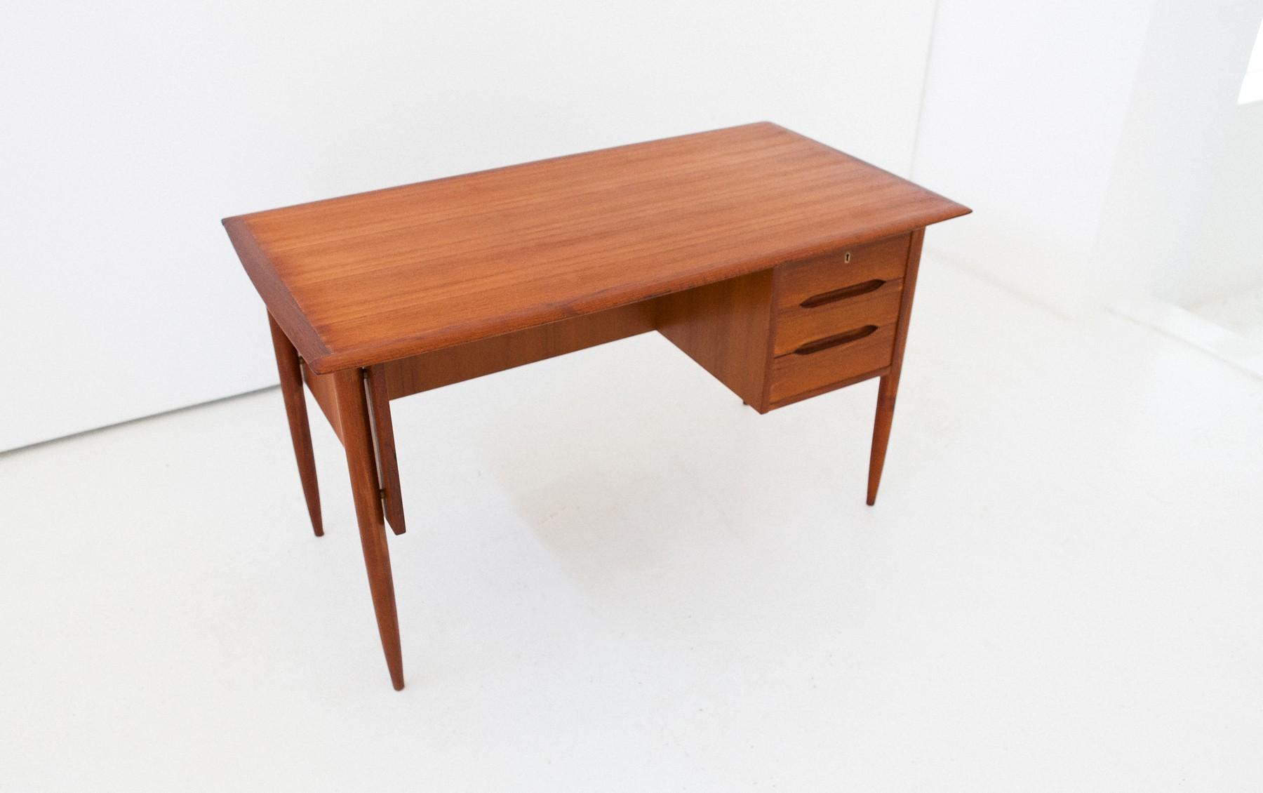 Mid Century Danish Teak Desk 1950s