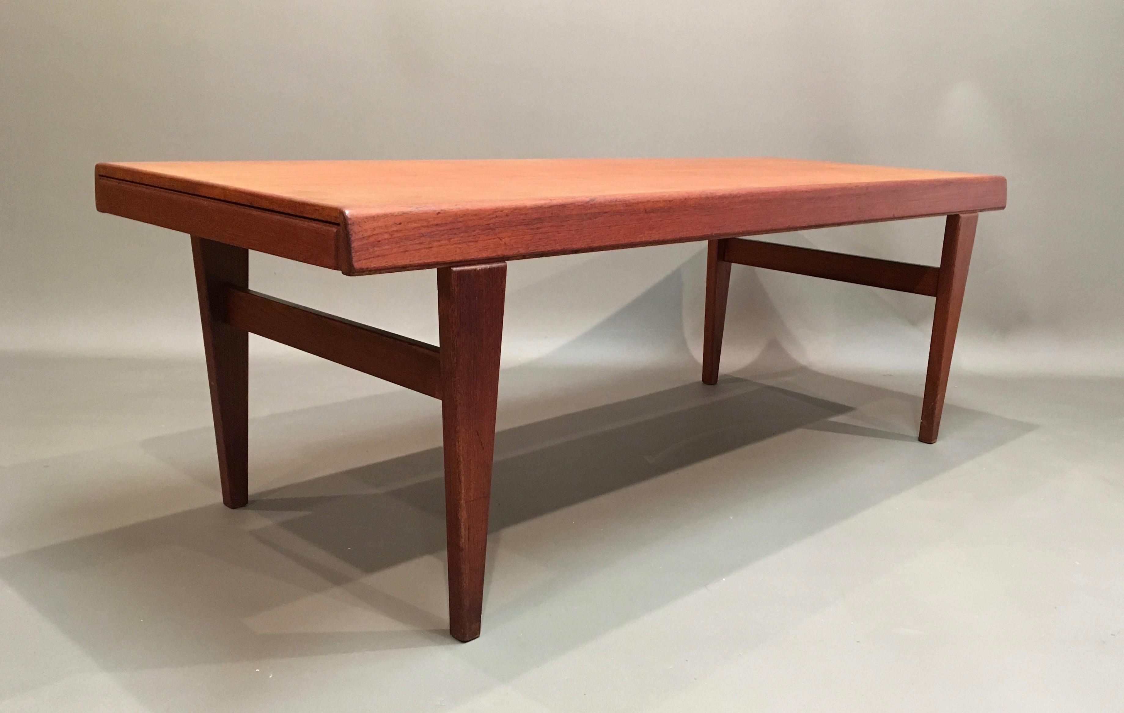Teak coffee table in Scandinavian design - 1950s - Design ...