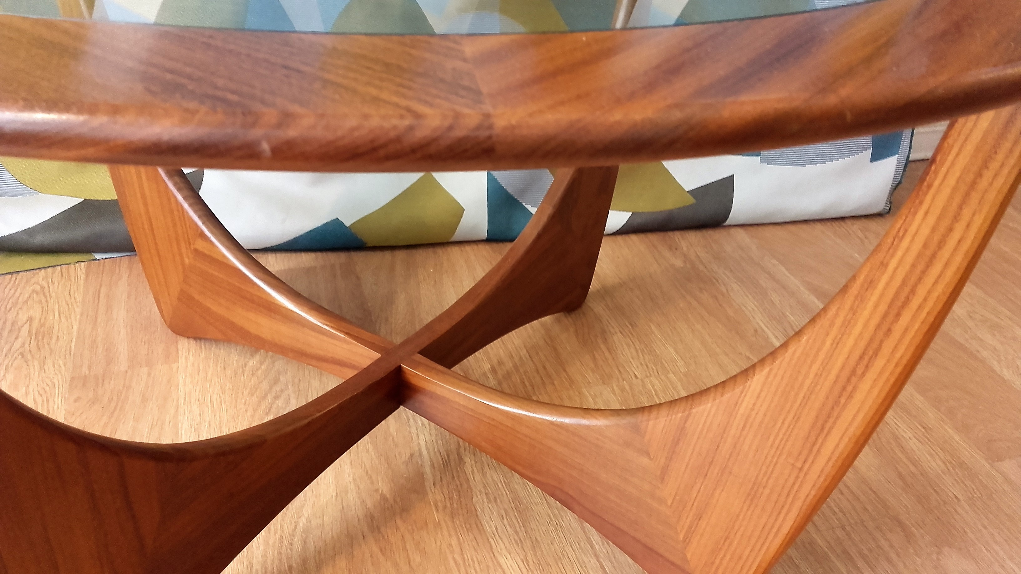 Round solid teak Astro coffee table by V Wilkins for G PLAN