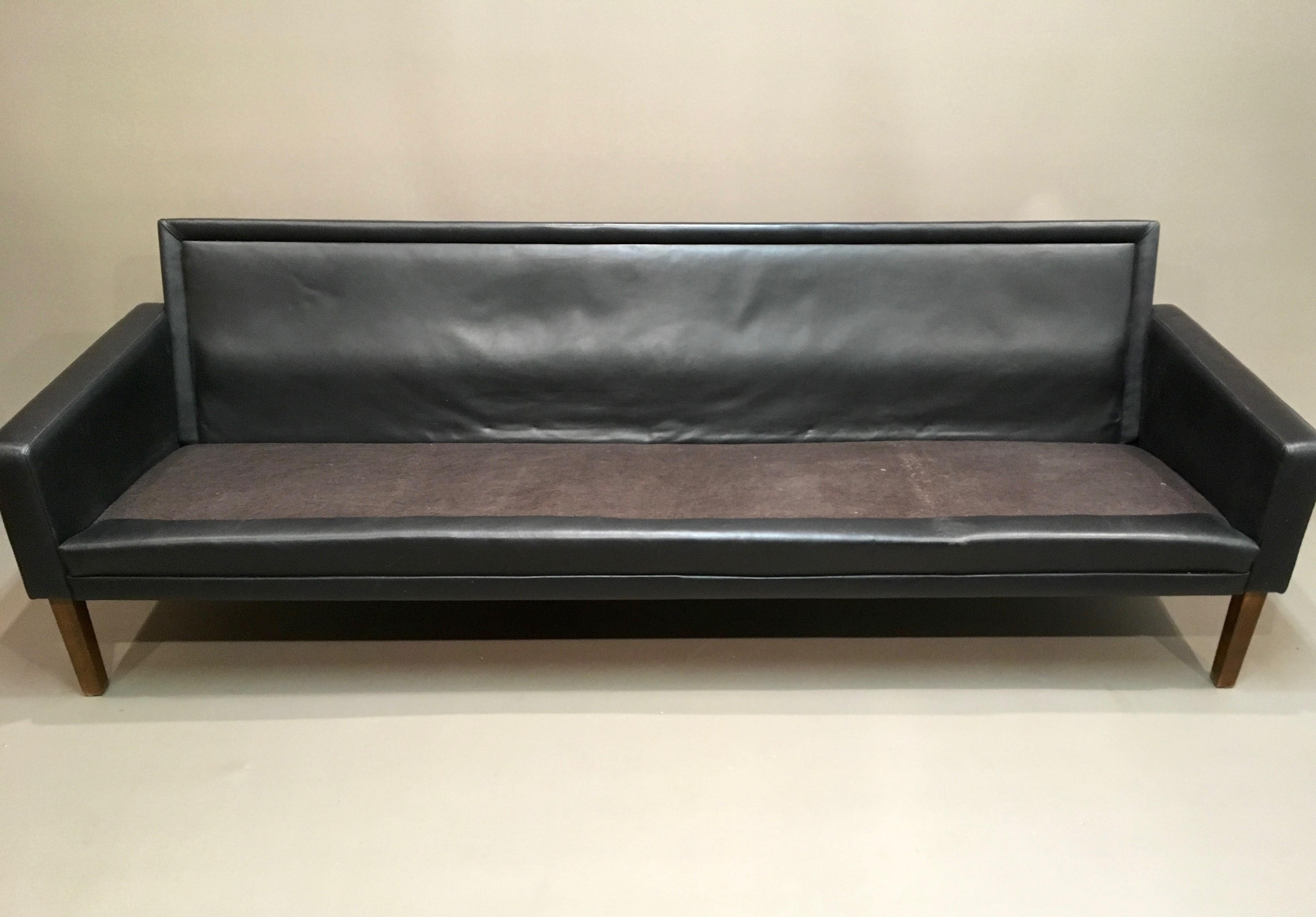 Vintage 4 Seater Black Leather Sofa 1960s Design Market ~ Vintage Black Leather Sofa