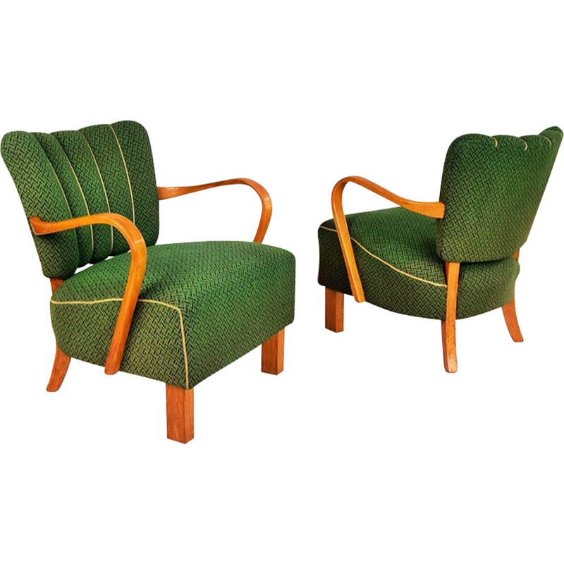 Pair of Armchairs by Jindrich Halabala for UP Závody Brno - 1930s