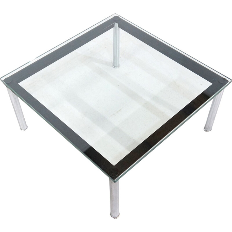 glass coffee table LC10 by Le Corbusier for Cassina - 1930