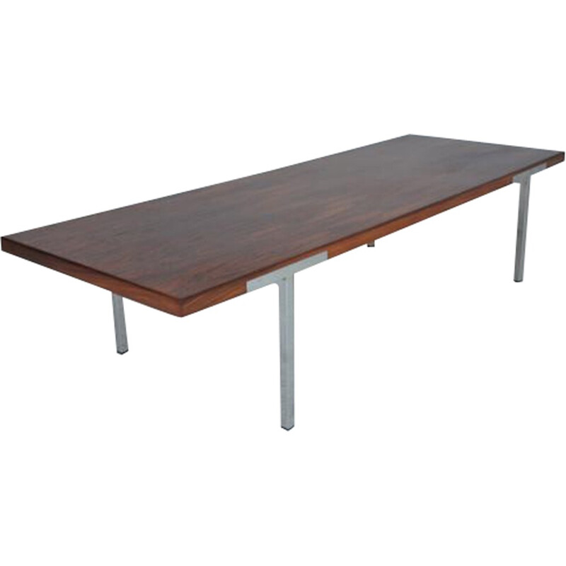 Mahogany coffee table by Antoine Philippon and Jacqueline Lecoq - 1960s
