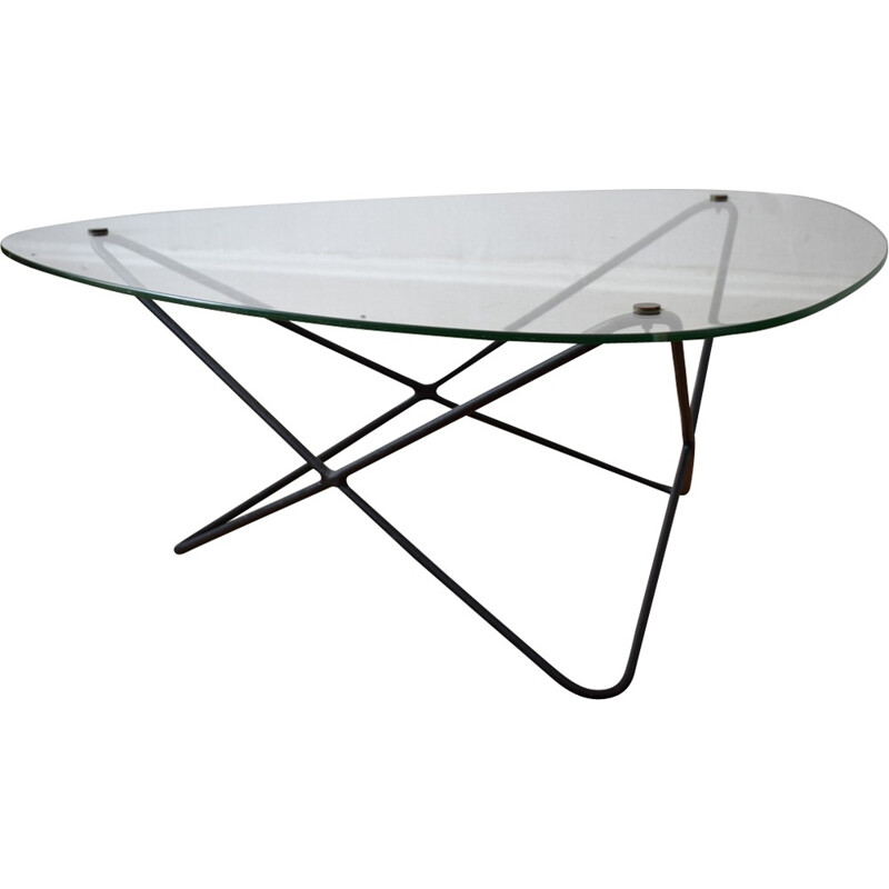 Vintage coffee table by Jacques Tournus for Airborne - 1950s