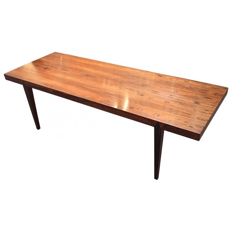 Long Coffee Table In Brazilian Rosewood, Severin HANSEN   1960s