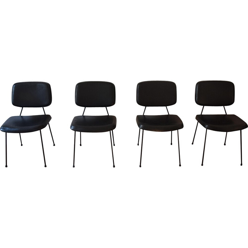 "Set of 4 ""CM196"" chairs by Pierre Paulin for Thonet - 1950s"