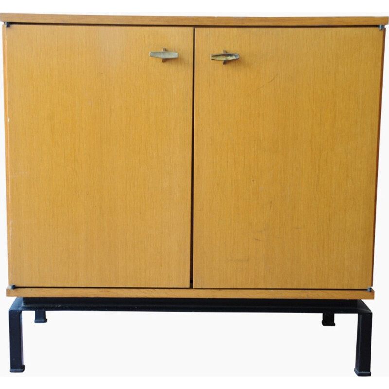 Vintage sideboard by Marcel Gascoin for Alvéole - 1950s