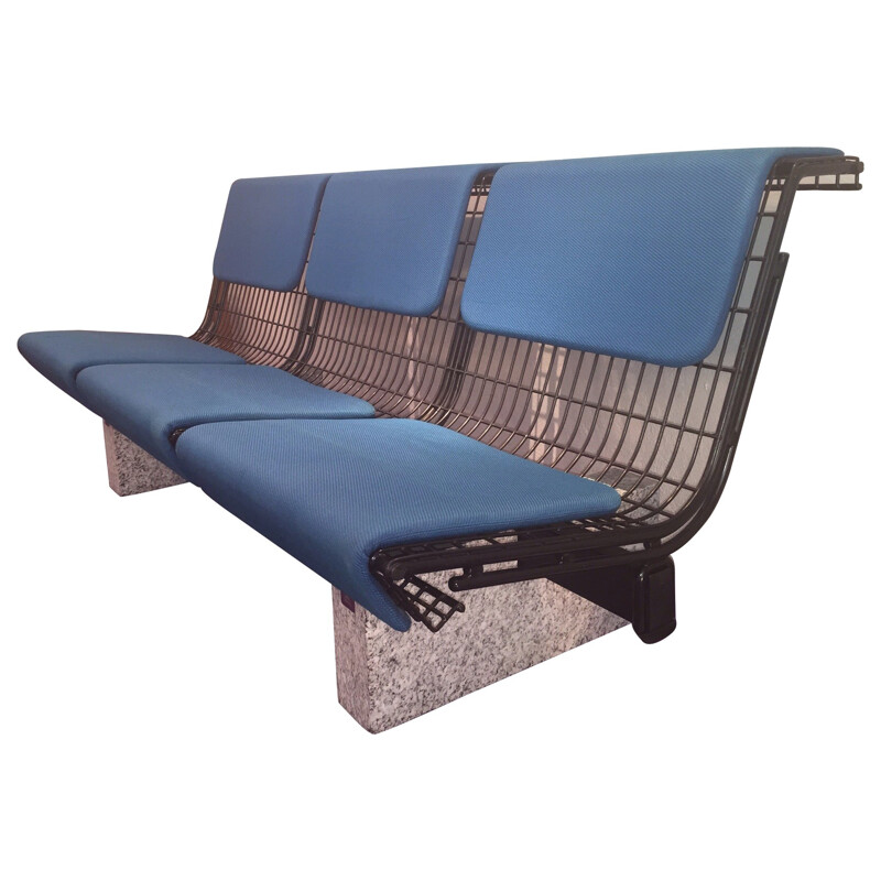 Bench in metal and granite, Osvaldo BORSANI - 1982