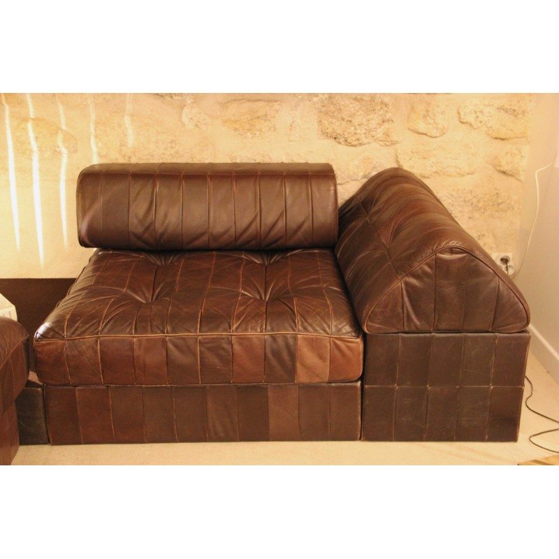 Ds 88 Living Room Set In Hazelnut Leather For De Sede 1970s