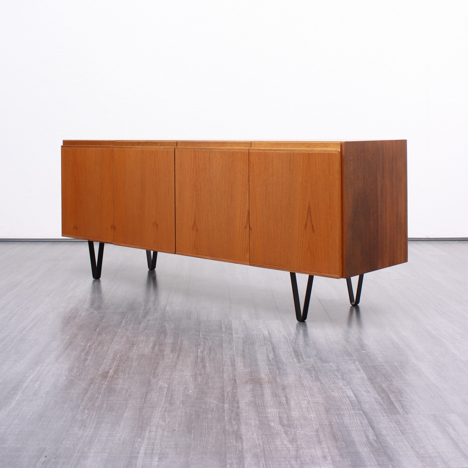 Vintage sideboard with hairpin legs in teak and oak 1960s Design Market
