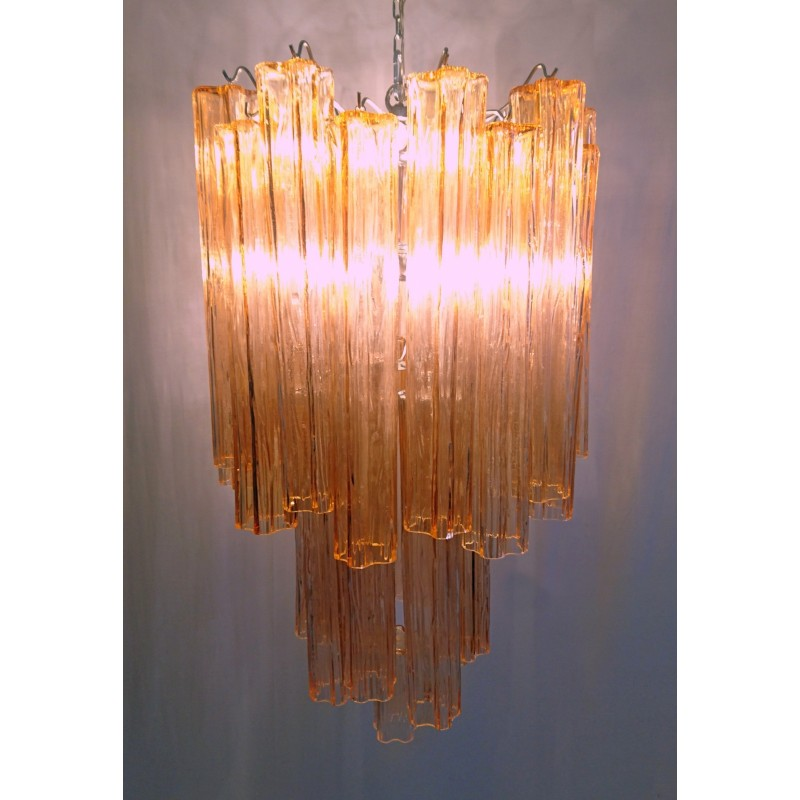 Large tronchi chandelier in pink by toni zuccheri for venini 1960s previous aloadofball Images