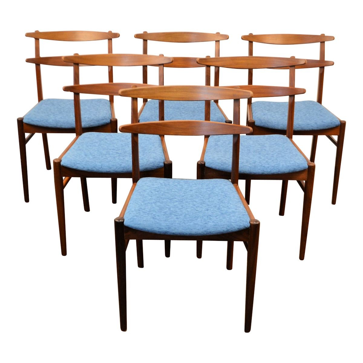 Set Of 6 Dining Chairs: Set Of 6 Danish Vintage Teak Dining Chairs