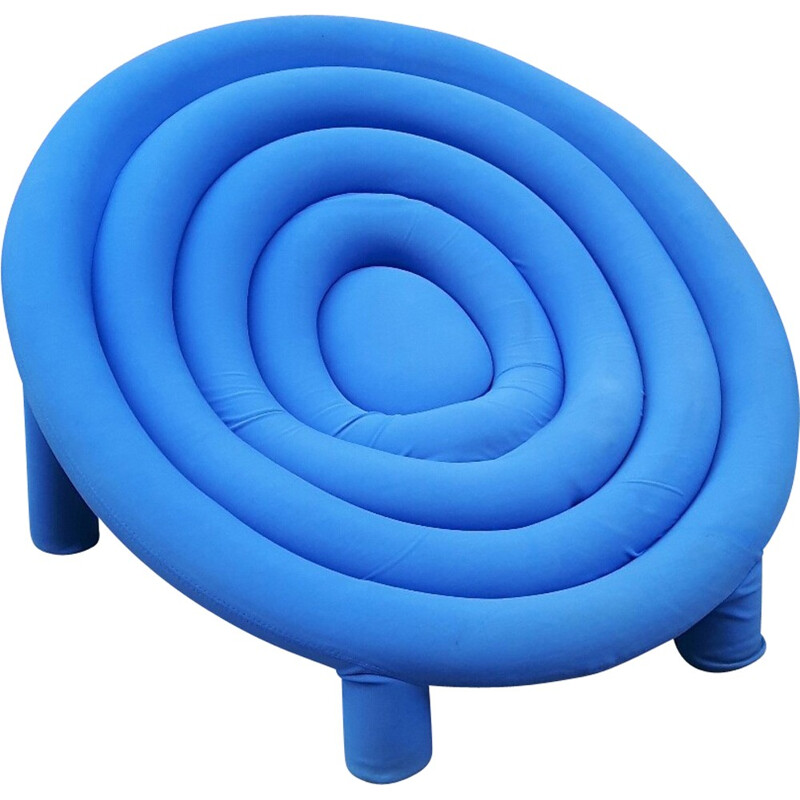 "Blue low chair ""ioio"", Sophie Larger - 1999"