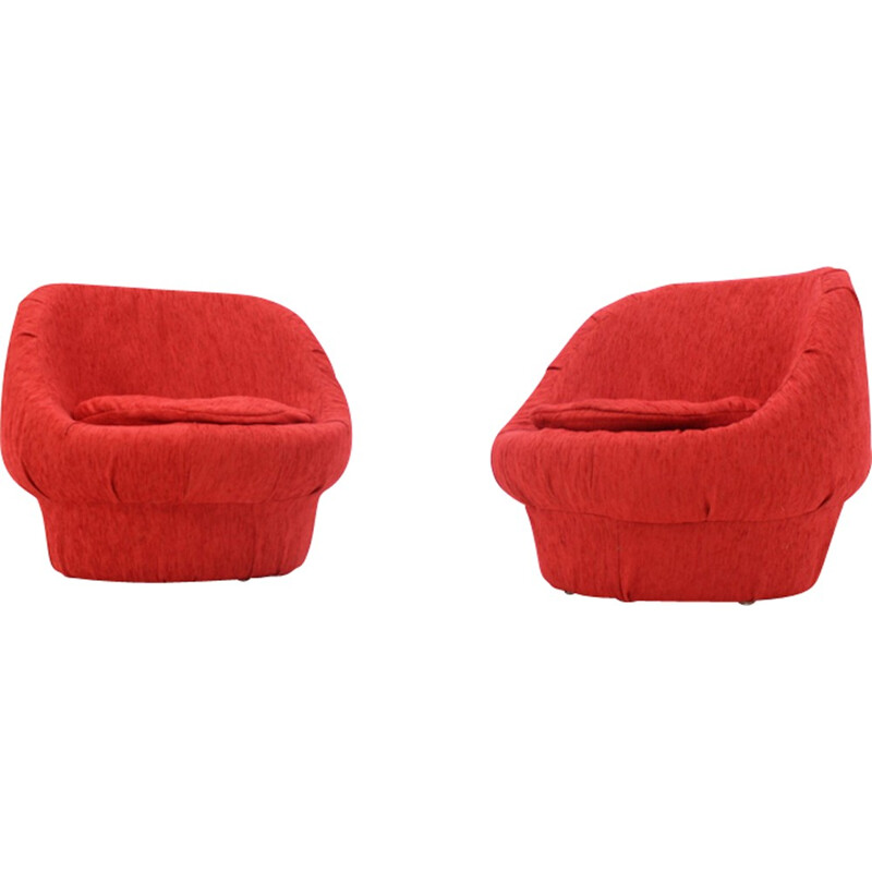 Pair of Mushrooms easy chairs, Czechoslovakia - 1970